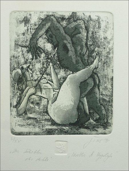 Traf erotische Perfektion der Kunst